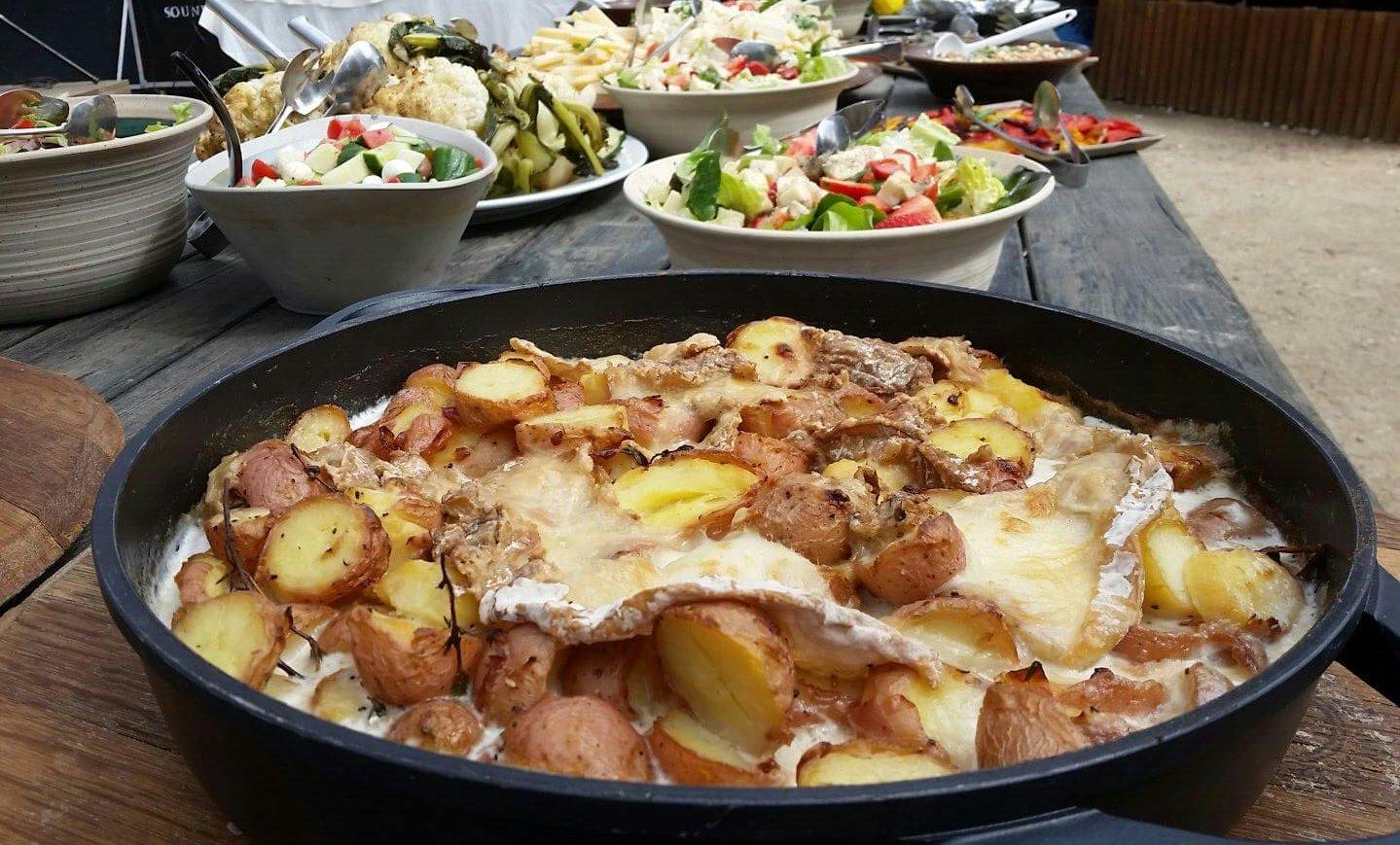 תפוחי אדמה מוקרמים בגבינת רותם המדבר